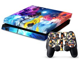Wholesale Naruto Uzumaki DECAL SKIN PROTECTIVE STICKER for SONY PS4 CONSOLE CONTROLL