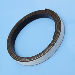 Wholesale 1M Rubber Self Adhesive Magnetic Stripe Flexible Magnet DIY Craft Tape x1 mm Top Quality