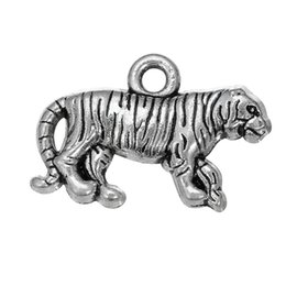Free shipping New Fashion Easy to diy 30Pcs tiger animal metal Charms jewelry making fit for necklace or bracelet