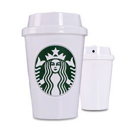 Wholesale USB Portable ABS Starbucks Cup Humidifier Purifier DC V Office Home Air Diffuser Aroma Mist Maker Absorbent Filter Sticks