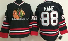 Factory Outlet, Chicago black hawk cheap hockey jersey # 88 Kane authentic black white red hockey Jersey