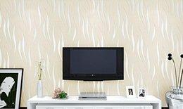 Wholesale New D Non Woven Wall Paper Roll Fiber Texture Papel De Parede Modern Minimalist stripe Home Decor Living Bedroom TV Sofa Wallpaper