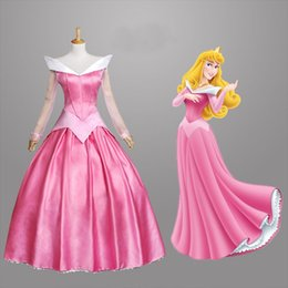 Wholesale 2015 New Arrival Adult Sleeping Beauty Dress Princess Aurora Cosplay Halloween Costume blue pink dress