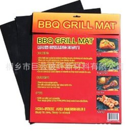 Wholesale BBQ Grill Mat Stick Reusable Washable Plate PTFE Coated Telflon Mats in OPP