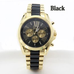 The 2014 explosion models fashion Geneva quartz watch leisure luxury full steel watch gold watch Wristwatches