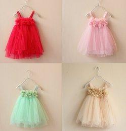 baby girl suspender dress floral flower braces dresses petals dresses for kids summer sundresses for baby princess sundress free shipping