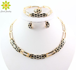 New Arrival Fashion African Jewelry Sets 18K Gold Rhinestone Necklace Earrings Set Bridal Wedding Jewelry Set