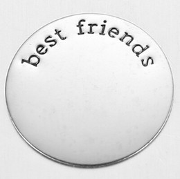 Wholesale best friends stainless steel silver plate charms mm DIY for mm glass living memory lockets