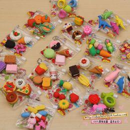 Free shipping nice promotional eraser animal fantastic cartoon pencil eraser rubber cute toy erasers for kids magic eraser