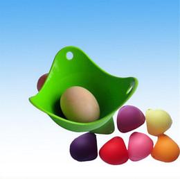 Wholesale Newest International Standard Silicone Egg Cooker Silicone Egg Poacher Pod Egg Boiler DHL