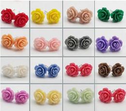 2015 rose korean earrings Stud earrings ear rings wholesale earring earrings jewelry