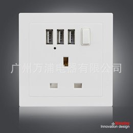 Switch, three USB wall charger 2.1 A British wall charger USB socket English wall plug British wall plug Russia