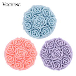 Noosa 18mm Snap Resin Interchangeable Snap Charm Jewelry Flower Snap Button VOCHENG (Vn-504)