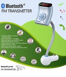 Wholesale DHL Car kit Bluetooth FM transmitter Hands Free TF Car Kit Wireless MP3 Music transmissor Bluetooth 100pcs