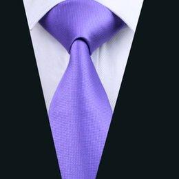Wedding Lavender Necktie for Men Jacquard Woven Silk Tie Business Party 8.5cm Width Necktie D-0416