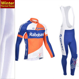 2013 rabobank thermal fleece cycling clothing cycling bib set   winter cycling jersey Long sleeve & Strap trousers   Team jersey
