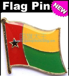 Free shipping Guinea-Bissau Metal Flag Badge Flag Pin