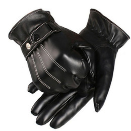 New Classic Mens Luxurious PU Leather Winter Super Driving Warm Gloves Cashmere Dave