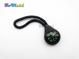 Wholesale 100pcs pack Compass Zipper Pull With Strap For Backpack Gym Suit Garment Accessories