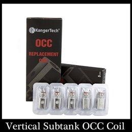 Wholesale Kanger Vertical Subtank OCC Coil Upgraded Subtank Coil ohm fit Kangertech Subtank Mini Nano Plus Atomizers