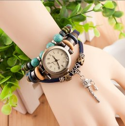 Wholesale Drop shipping Korea Vine Wrist Watches Rattles Bell Pendant hand woven watches Casual Watches women Quartz watches