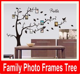 Wholesale Family Picture Photo Frame Tree Wall Quote Art Stickers Vinyl Decals Home Decor