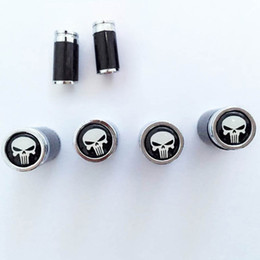 Wholesale 4 Skull Shape Car Valve Cap Wheel Tire Valve Caps Stem Air Caps Covers Car Accessories