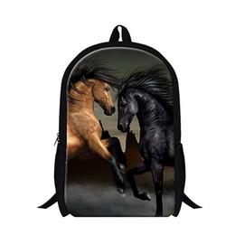Wholesale 2015 Ferghana horse lightweight school backpack for element children s plush horse bookbags fashion mens back pack bag for teens