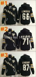 Wholesale Women s Hoody Pittsburgh Penguins Sidney Crosby Evgeni Malkin Mario Lemieux Stitched Hoodies Best Quality Size S XL