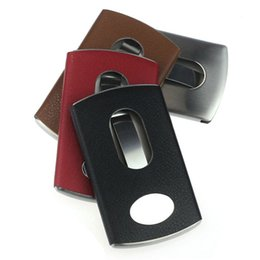 New Thumb Slide Out Stainless Steel Pocket Business Credit Card Holder Case Dave