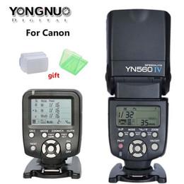 Wholesale YONGNUO YN560 IV YN IV Master Radio Flash Speedlite YN TX Controller for Canon D D D D D D DSLR