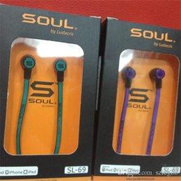 Wholesale Factory Price High sounds Soul SL mini Earphones Audio Street by Ludacris Headphone In Ear Headphones for Mp3 Mp4 Cell phone VS SMS earphone
