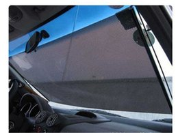 Car Window Roller Blind Scalable Mesh Sun Shade Car Sunshade Gauze Insulated Curtain Retractable Shutter