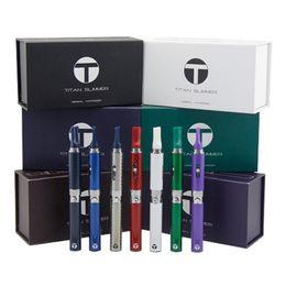 Titan Slimmer Vaporizer Starter Kit 7 Colors 650mah Herbal Vaporizer Dry Herb Electronic Cigarette Pen