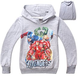 2016 new spring and autumn boy hoodies Avengers long sleeve hoodies sweatshirts kids cartoon cotton hoodies two colors 742