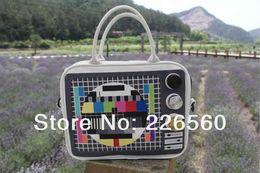 Wholesale Piece TV Test Pattern Weekend Bag Retro TV Handbag TV Bag