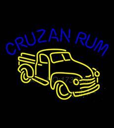 Signes de cow-boy à vendre-825 HOT Cruzab Rum Bar signe de néon Dallas Cowboys néon signes Real GlassTube Artisanat commercial Neon Sign Cadeaux 32 * 24