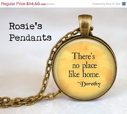 Wholesale SALE SHIPS AFTER The Wonderful Wizard of Oz Quote quot There s no place like home quot Pendant Necklace or Key Ring Dorothy Quote Gift
