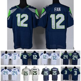Wholesale 2016 Cheap jersey Adult Men s Russell Wilson ELITE Blue White Football Jerseys High Quality