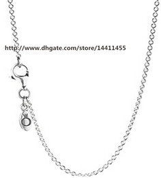 High-quality 925 Sterling Silver Chain with Clasp Necklaces Fits for European Pandora Style Charms and Beads Pendants