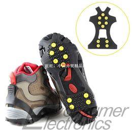 1pair 10 teeth mountaineering slip Shoe covers simple crampo