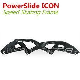 Descuento marcos de carreras ICONO Marco en la línea profesional de patinaje de velocidad mayor-PowerSlide, 4 Ruedas Q7 El exceso de velocidad del marco que compite con patines Patins