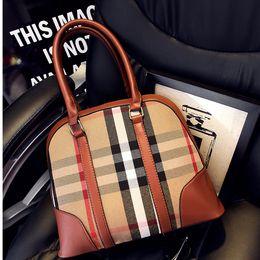 Wholesale 2015 European and American women Handbag plaid checkered shell bag Mobile Messenger shoulder bags