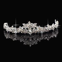 Wholesale China Headdresses - Hot Sales Cheap Sparkling 2016 Crystal Rhinestone Crown Tiara Wedding Prom Bride Headband Wedding Headdress Made In China