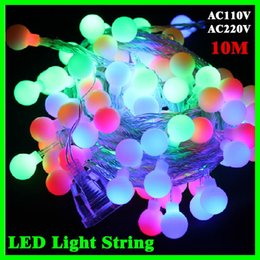 Wholesale 10m led large bulb string light waterproof outdoor patio lanterns decorated wedding celebration party supplies Christmas tree light strings