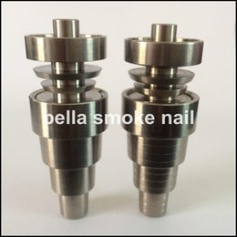 Wholesale high quality mm mm mm in domeless spiral gr titanium nail with male and female joint laser logo free