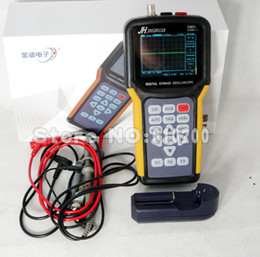 "Wholesale Single Channel Oscilloscope - Wholesale-FreeShipping 2 in 1 single channel Handheld Digital storage oscilloscope + Digital multimeter English menu 3.2"" LCD 20MHZ"