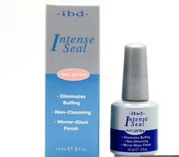 Wholesale NEW IBD UV Gel Intense Seal oz m Nail polish Top Coat MIRROR GLASS FINISH For Nail Beauty