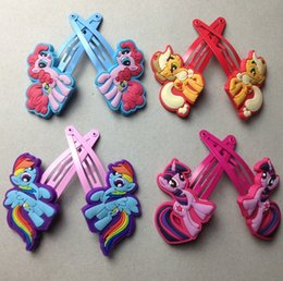 Wholesale IN stock designs My Little Pony baby hairpin clips baby girls hairbands hair claws baby hair ornament hairclip B001