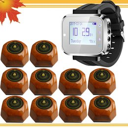 Restaurant waiter buzzer system 1 watch pager and 10 call button Waiter calling Waiter Service Calling System For Bank Restaurant Hotel